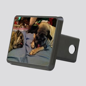 Pugs chilling Rectangular Hitch Cover