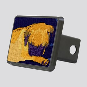 Sleeping Pug Puppy Rectangular Hitch Cover