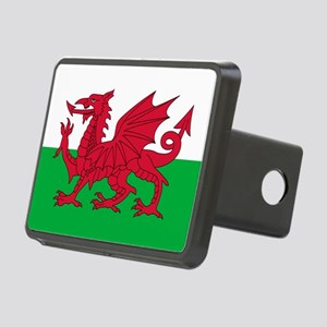 Welsh Flag of Wales Rectangular Hitch Cover