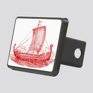 Cool Vintage Viking Ship Design Rectangular Hitch
