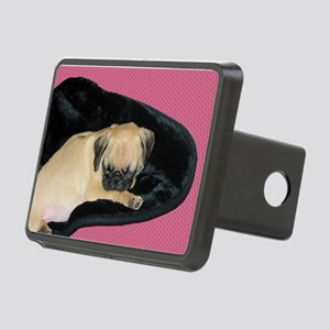 Adorable Sleeping Pug Puppy Hitch Cover