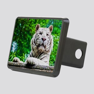 White Tiger Rectangular Hitch Cover