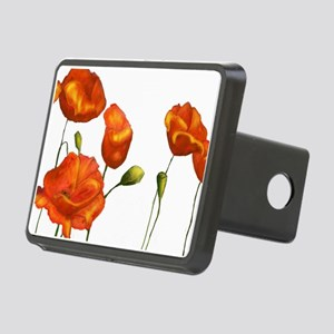 Poppies Rectangular Hitch Cover
