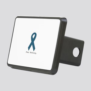 Fear Nothing. Teal Ribbon Rectangular Hitch Cover