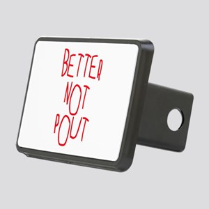 Better Not Pout Christmas Rectangular Hitch Cover