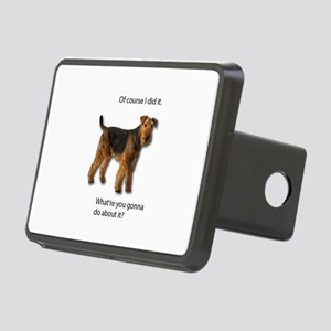 Guilty Airedale Shows No R Rectangular Hitch Cover
