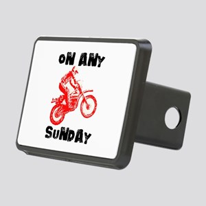 ON ANY SUNDAY Rectangular Hitch Cover