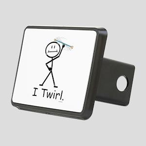 Baton Twirler Stick Figure Rectangular Hitch Cover