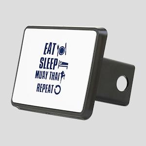 Eat Sleep Muay Thai Rectangular Hitch Cover