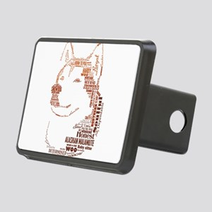Malamute Words Hitch Cover