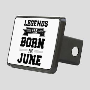 Legends Are Born In June Rectangular Hitch Cover