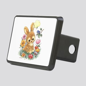 Cute Easter Bunny With Rectangular Hitch Cover