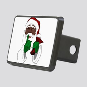 African Santa Clause Rectangular Hitch Cover