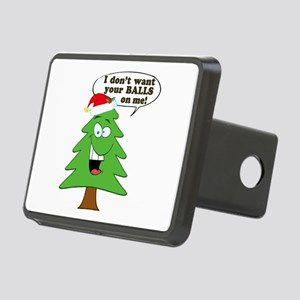 Christmas Tree Harassment Rectangular Hitch Cover