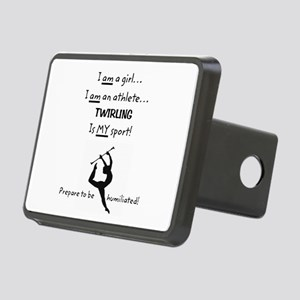 Twirling Athlete Rectangular Hitch Cover
