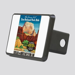 Vintage poster - Zion Nati Rectangular Hitch Cover