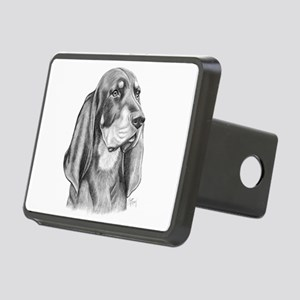 Black and Tan Coon Hound Rectangular Hitch Cover