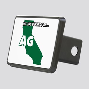 My Job Depends On Ag Rectangular Hitch Cover