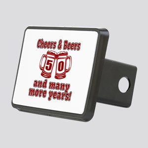 Cheers And Beers 50 And Ma Rectangular Hitch Cover