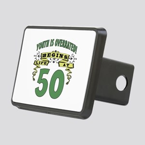 Life Begins At 50 Rectangular Hitch Cover