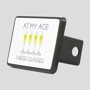 At My Age I Need Glasses Rectangular Hitch Cover