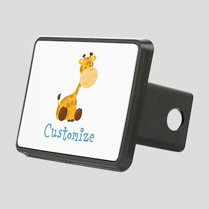 Custom Baby Giraffe Rectangular Hitch Cover