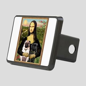 card-Mona-PugPair Rectangular Hitch Cover