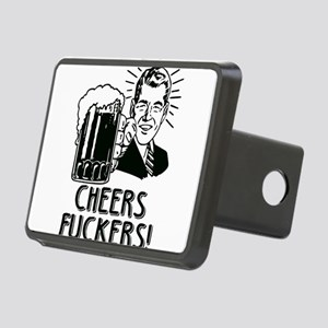 Cheers Fuckers Beer Party Rectangular Hitch Cover