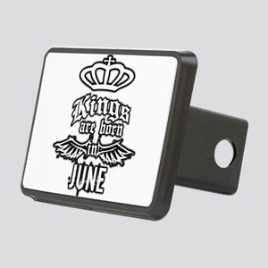 king are born in june Rectangular Hitch Cover