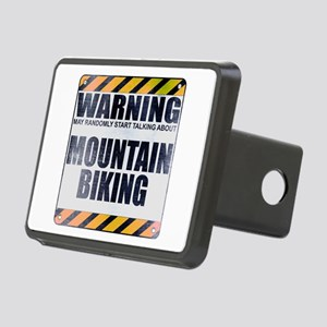 Warning: Mountain Biking Rectangular Hitch Cover