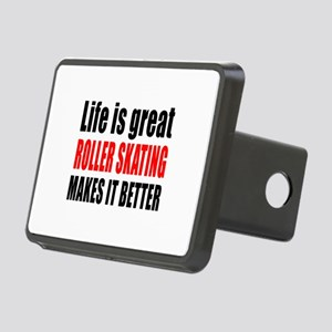 Life is great Roller Skati Rectangular Hitch Cover