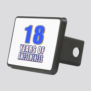 18 Years Of Awesomeness Rectangular Hitch Cover