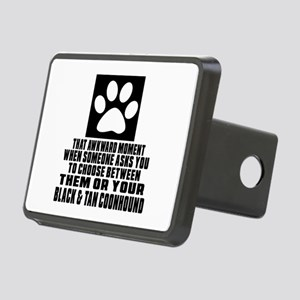 Black & Tan Coonhound Awkw Rectangular Hitch Cover