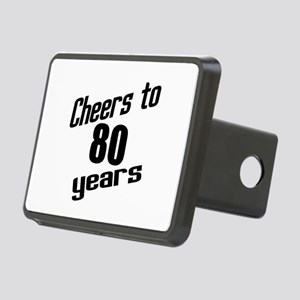 Cheers To 80 Years Rectangular Hitch Cover