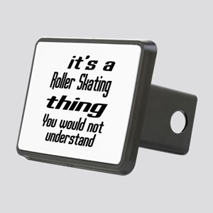 It Is Roller Skating Thing Rectangular Hitch Cover