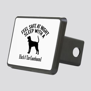 Sleep With Black and Tan C Rectangular Hitch Cover
