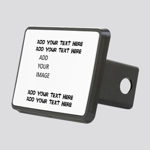 Custom Text And Image Rectangular Hitch Cover