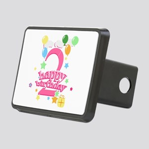 2nd Birthday with Balloons Rectangular Hitch Cover