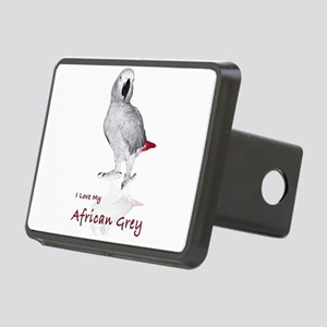i love african greys Rectangular Hitch Cover
