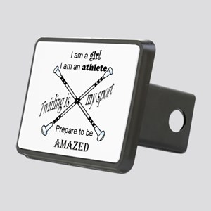 Twirling Athlete Hitch Cover