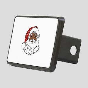 black santa claus Rectangular Hitch Cover