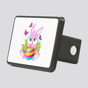 Pink Easter Bunny Rectangular Hitch Cover