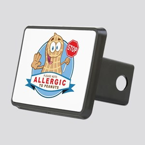 Allergic to Peanuts Rectangular Hitch Cover