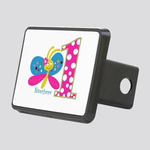 Butterfly First Birthday Rectangular Hitch Cover