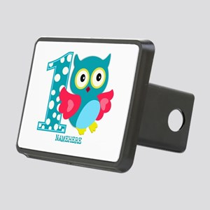 Cute First Birthday Owl Rectangular Hitch Cover
