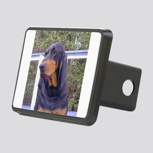 black and tan coonhound Hitch Cover