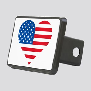 American Flag Heart Hitch Cover