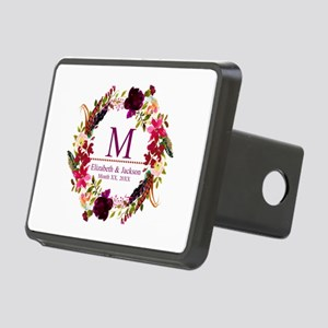 Boho Wreath Wedding Monogram Hitch Cover