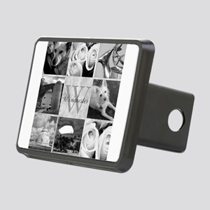 Elegant Photo Block and Monogram Hitch Cover