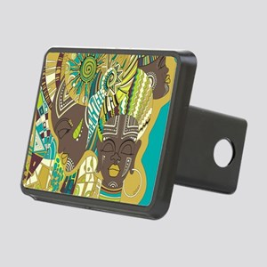 African Woman Rectangular Hitch Cover